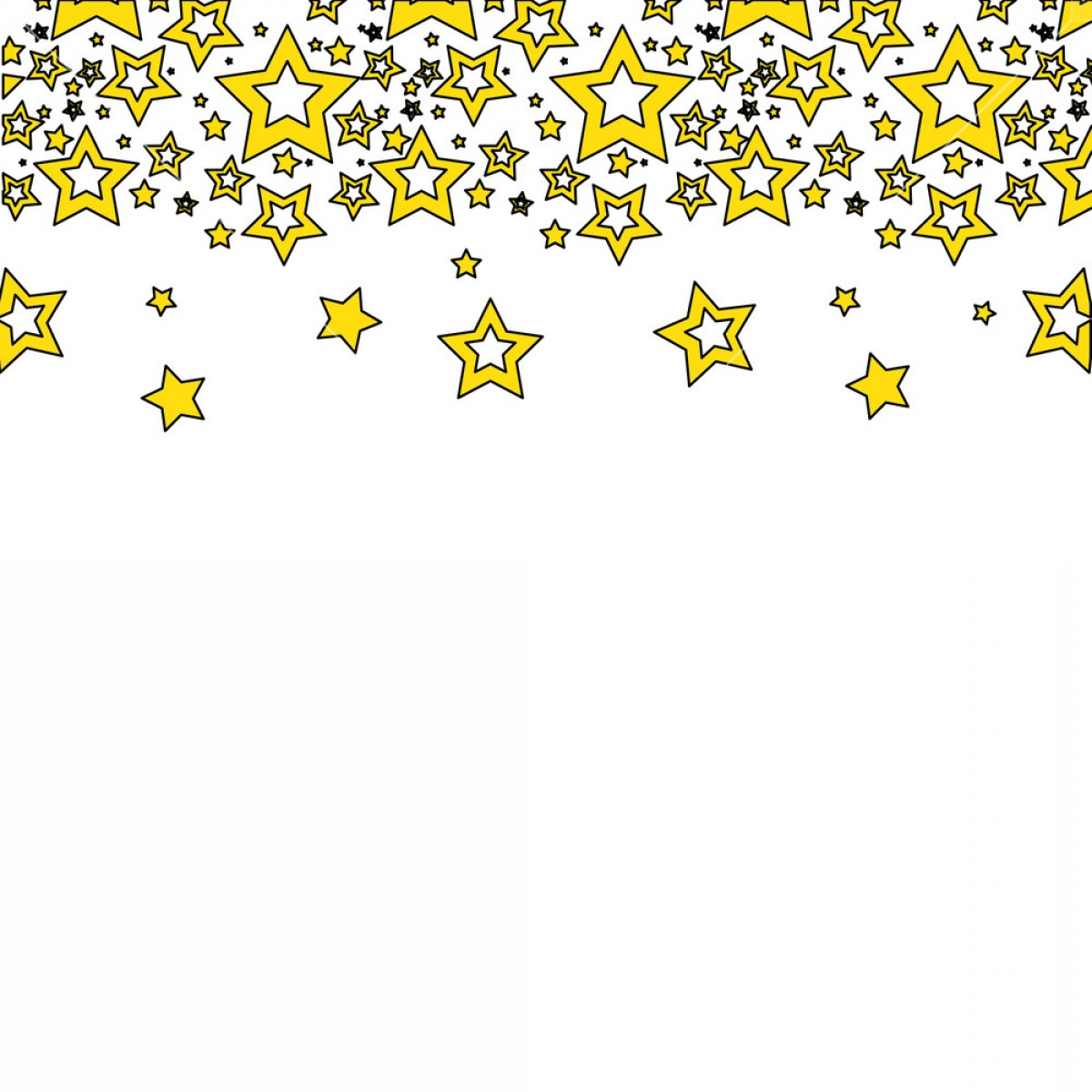Stars Yellow Christmas Vector: Yellow Stars Christmas Decoration Backgroud Vector Illustration Htlmktwgjawibma