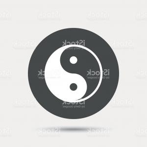 Balance Symbol Vector: Ying Yang Sign Icon Harmony Balance Symbol Ying Yang Sign Icon Harmony Balance Symbol Blurred Gradient Design Element Image