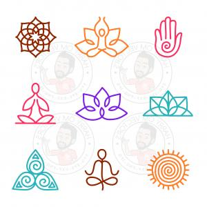 Stick Figure Vector Graphic SVG: Yoga Stick Figure Vectors Svg Dxf For