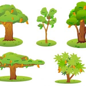 Free Tree Vector Clip Art: Yoga Tree Silhouette Vector Clipart