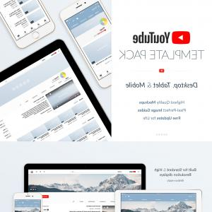 Mountain Vector Logo YouTube: Youtube Social Media Template Pack