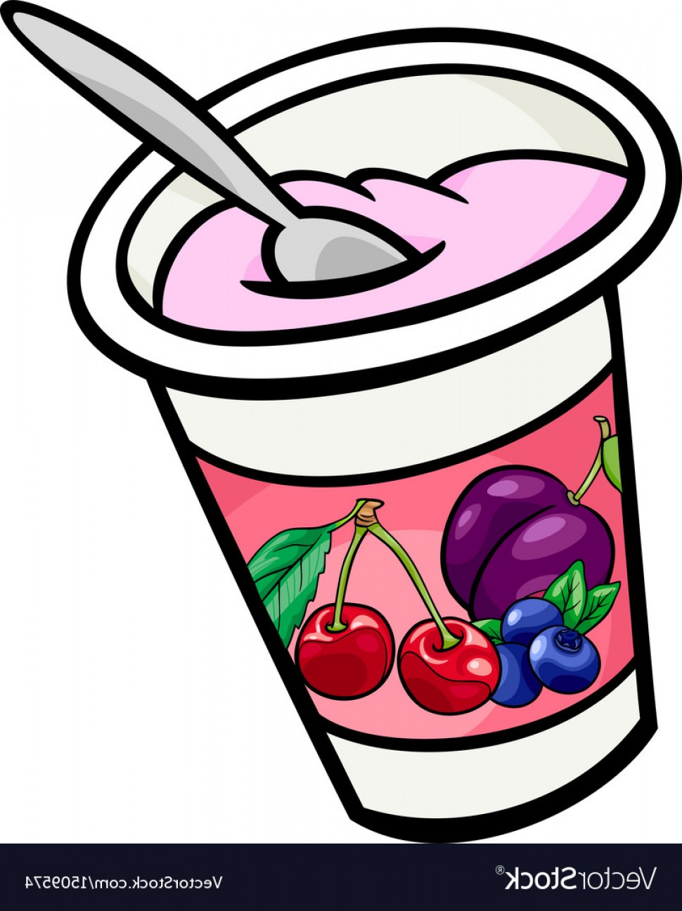 Yogurt Clip Art Cartoon Vector | CreateMePink