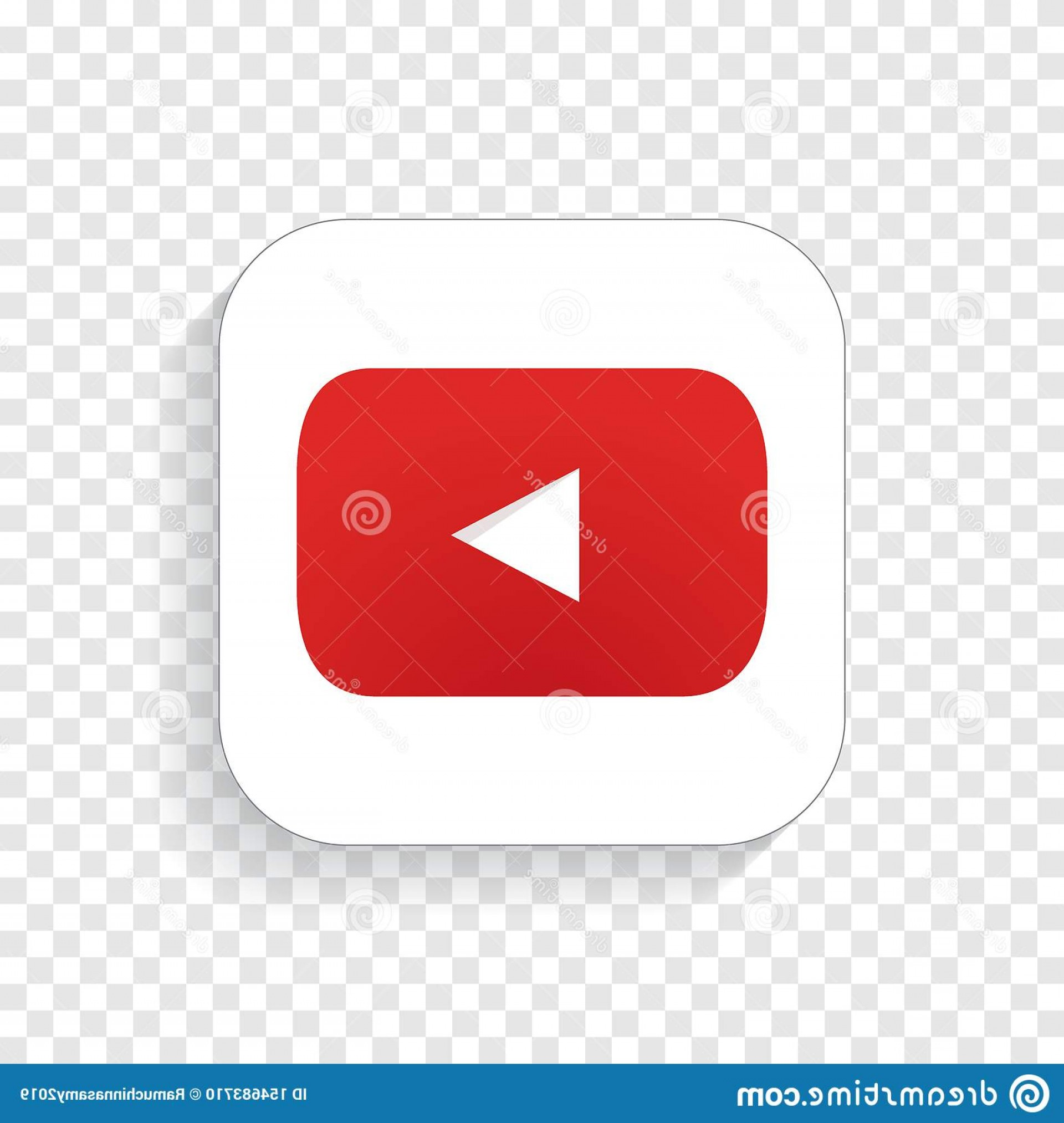 In Icon Stock Vector: Youtube Icon App Vector Transparent White Isolated Background Image