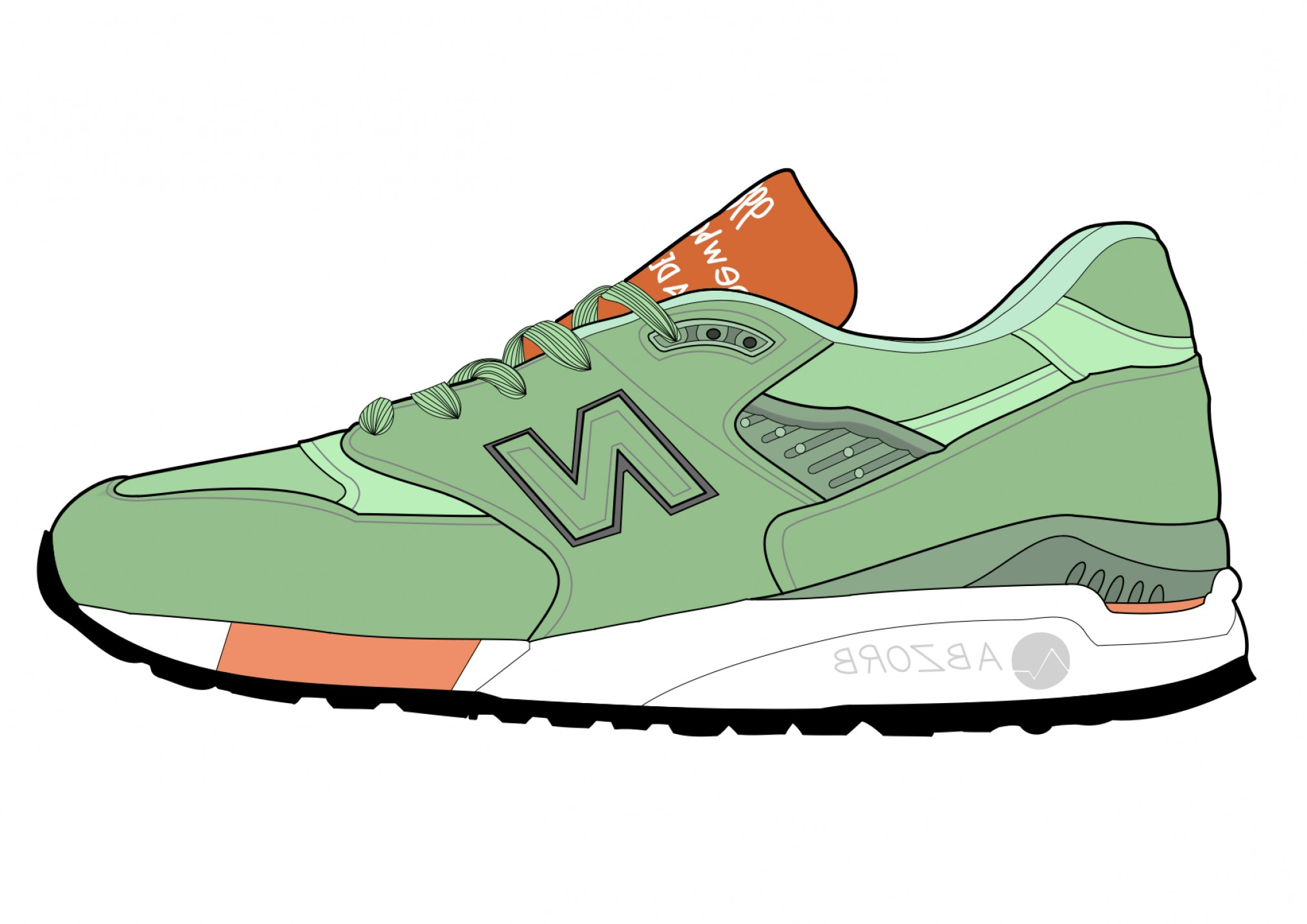 New Balance Vector: Zac Lynns Sneaker Design With Artboard