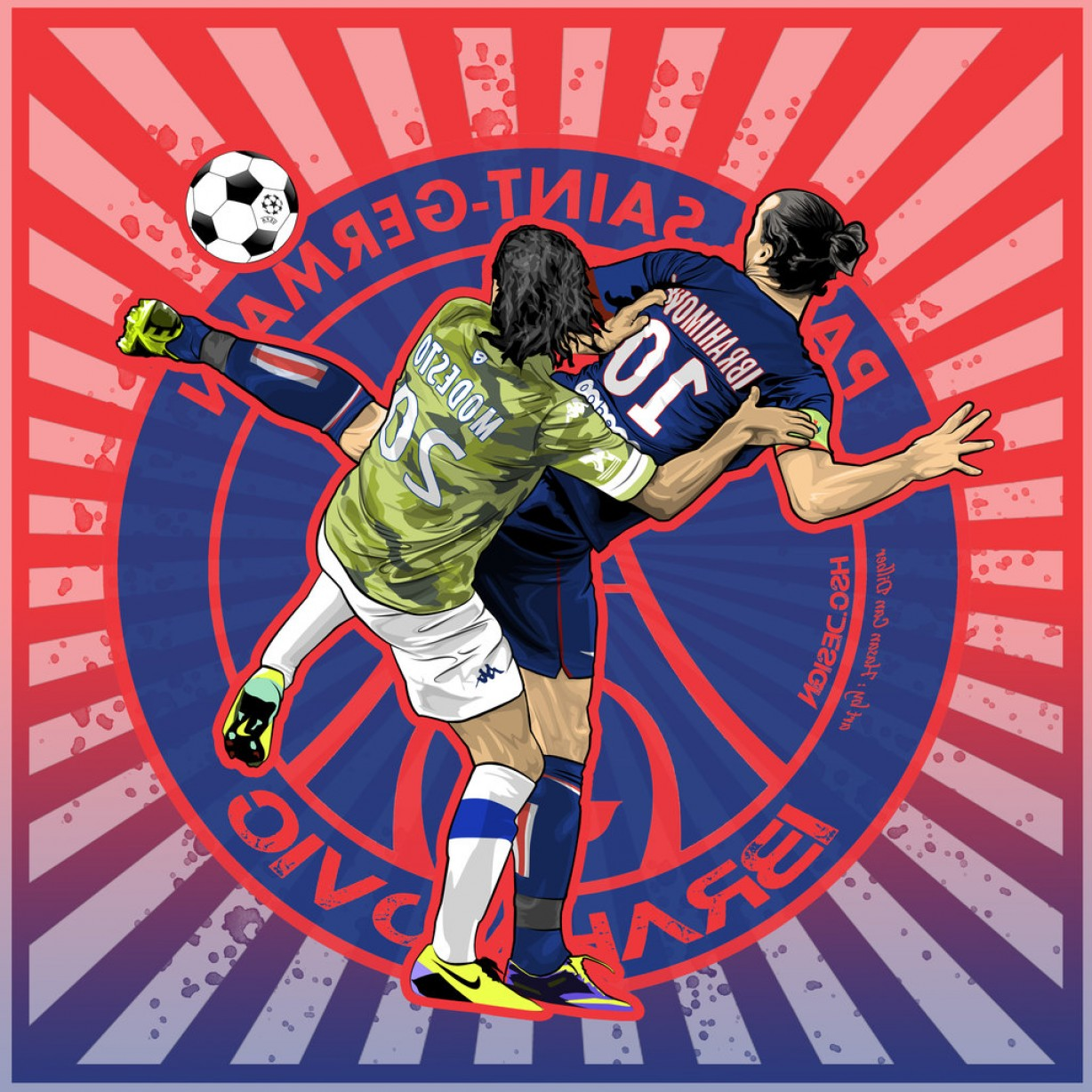 HSC Vector Art 3 Zlatan Ibrahimovic Wallpaper Psg