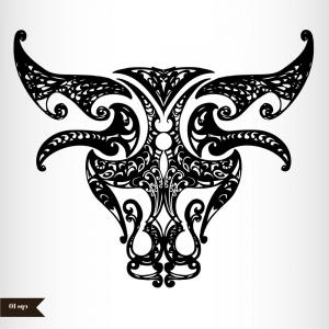 Taurus Vector: Photostock Vector Zodiac Sign Taurus Vector Illustration