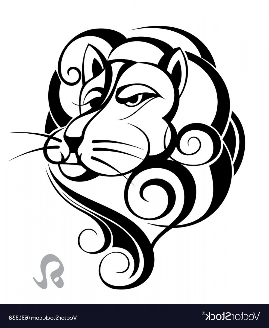 Leo Symbol Zodiac Vector: Zodiac Signs Of Leo Vector
