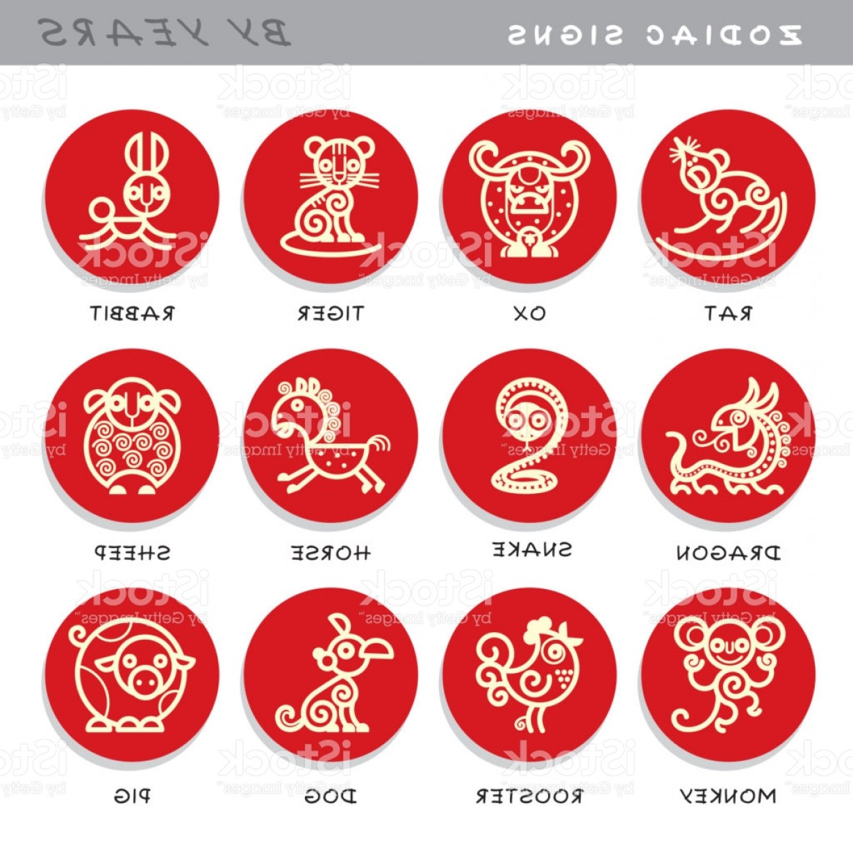 Chinese Zodiac Signs Vector: Zodiac Signs Vector Icons Of Astrological Animals By Years Symbols Of Chinese Gm