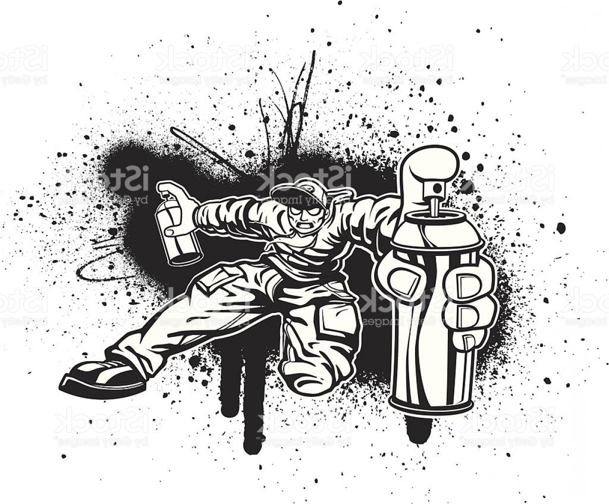 Boba Fett Vector Black And White: Zombie Kid Graffiti Splatter Fest In Black And White Gm